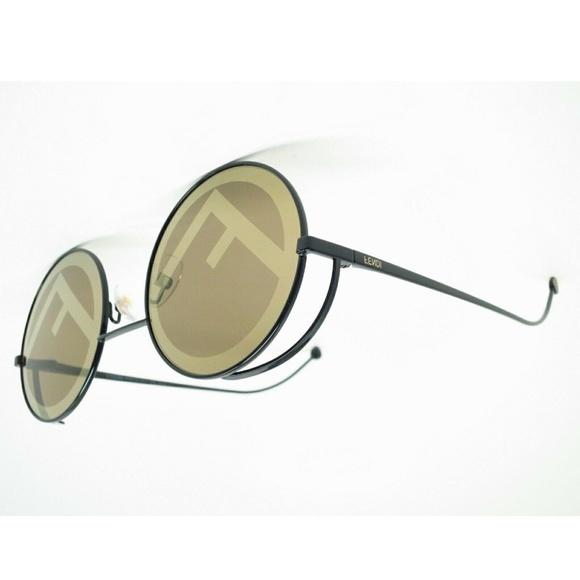 eac9c63f5 Fendi Accessories   Ff 0343s 807eb Browngold Logo Sunglasses   Poshmark